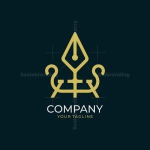 Pen And Ship Logo