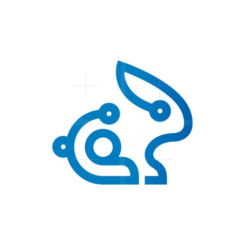 Cyber Rabbit Logo Cyber Bunny Logo