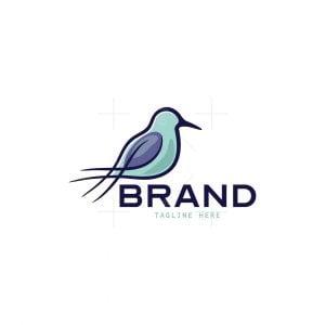Sandpiper Bird Hashtag Logo
