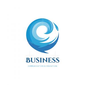 Speak Wave Bubble Chat Symbol Logo