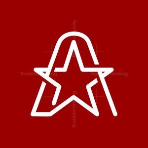 Modern A And Star Logo
