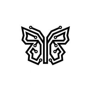 Tech Butterfly Icon Logo