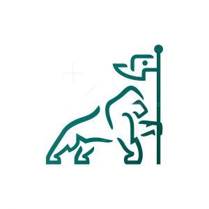 Silverback Gorilla Logo Victory Gorilla Logo