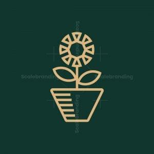 Windmill Flower Logo
