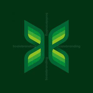 Butterfly Letter X Logo