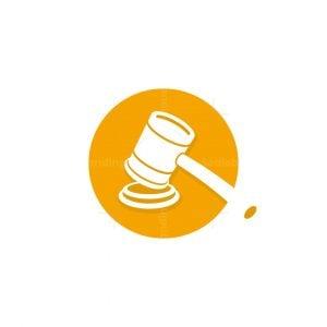 Court Judge Hammer Logo