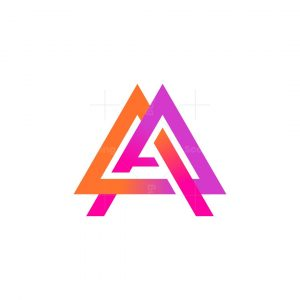 Abstract Triangle Letter A Logo