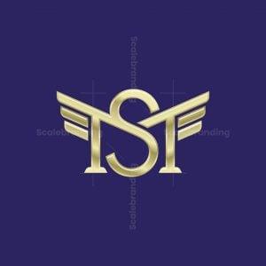 Golden Monogram Ms Sm Letter Logo