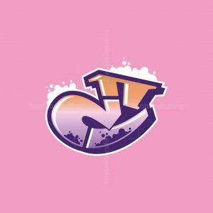 Graffiti Letter E Logo