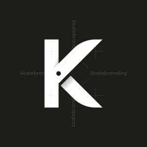 Letter K Scissors Logo