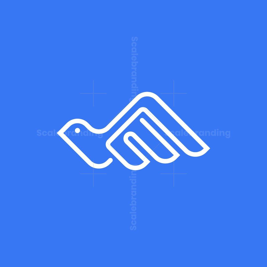 Letter E Dove Logo
