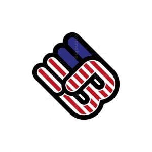 Letter B Fist Logo