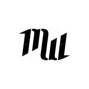Monogram Letters Mw Mm Logo