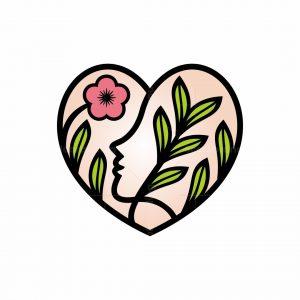 Love Woman Flower Logo