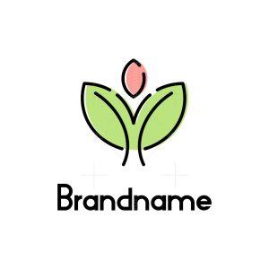Simple Tree Logo Lineart