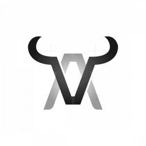 Letter A Or V Bull Logo
