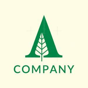 A Letter Tree Logo