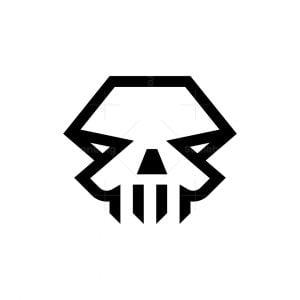 Angry Skull Mark Logo