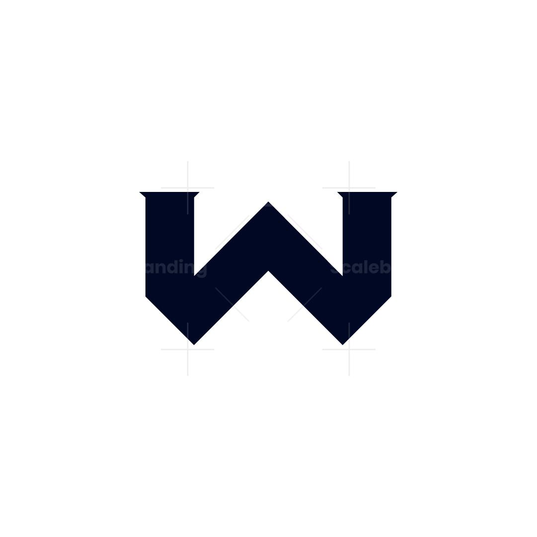 W Anchor Logo – Negative Space