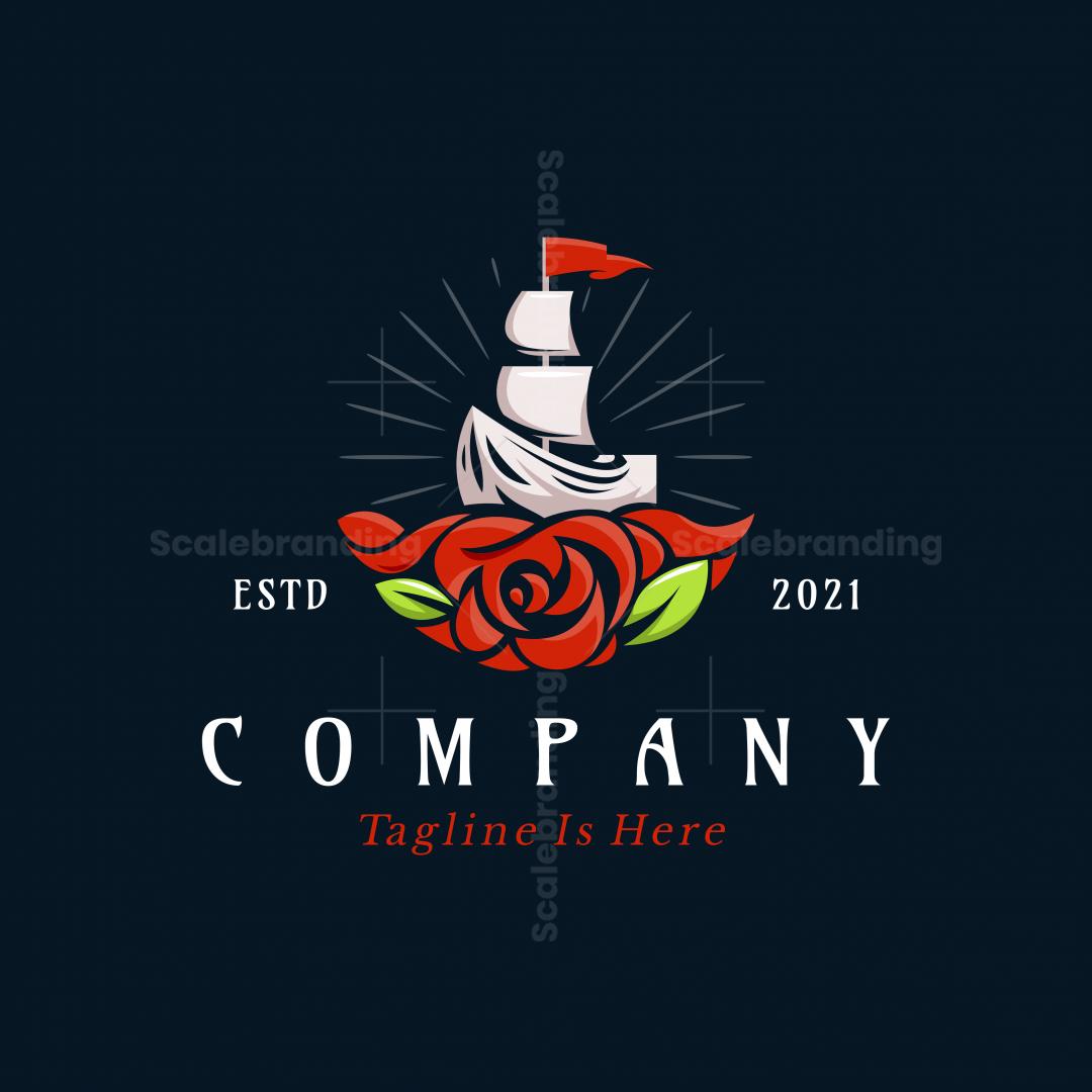 Sail Boat Rose Logo