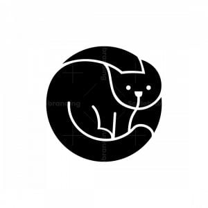 Black Circle Cat Logo