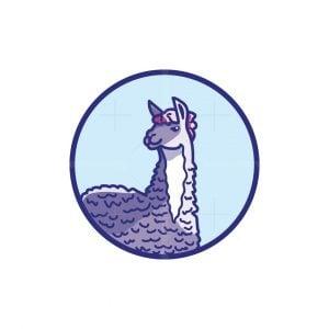 Cute Alpaca Logo