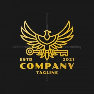 Golden Guardian Eagle Logo
