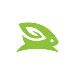 Ear Leaf Rabbit Logo