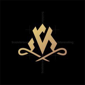 Elegant A And V Letter Logo