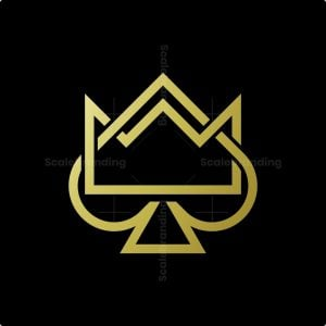 Golden Spade With Crown Logo