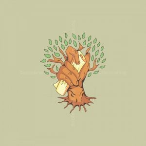 Hand Tree Vintage Logo