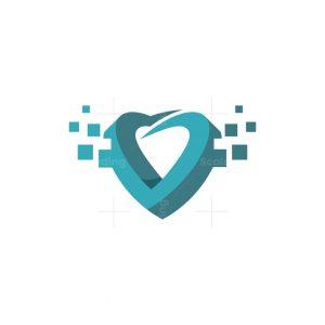 Heart Pixel Digital Logo