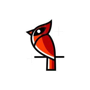 Iconic Cardinal Bird Logo