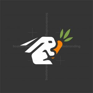 Iconic Rabbit With Carrot Logo