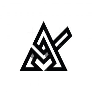 Letter A Check Logo