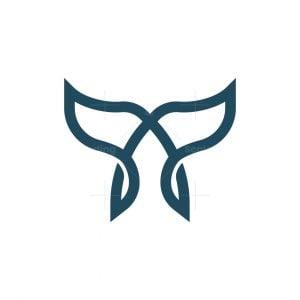 Letter A Whale Logo