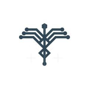 Tech Caduceus Logo