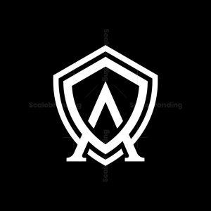 Letter A Shield Logo