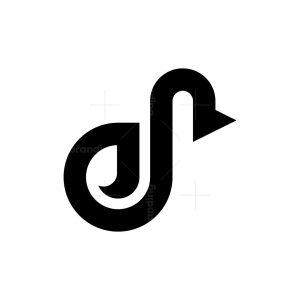 Letter D Duck Logo