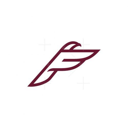 Letter F Eagle Or Falcon Logo