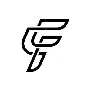 Letter F Monoline Logo