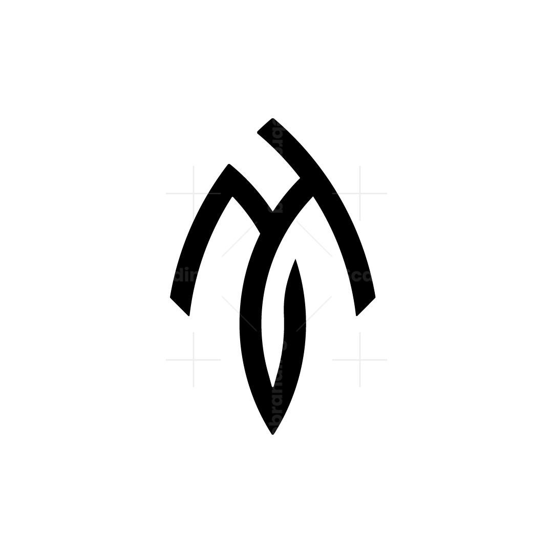 Letter Jh Logo