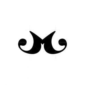 Letter M Moustache Logo