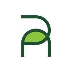Letter R Leaf Logo
