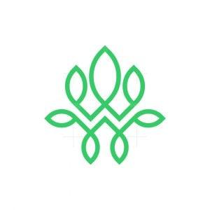 Letter W Nature Logo