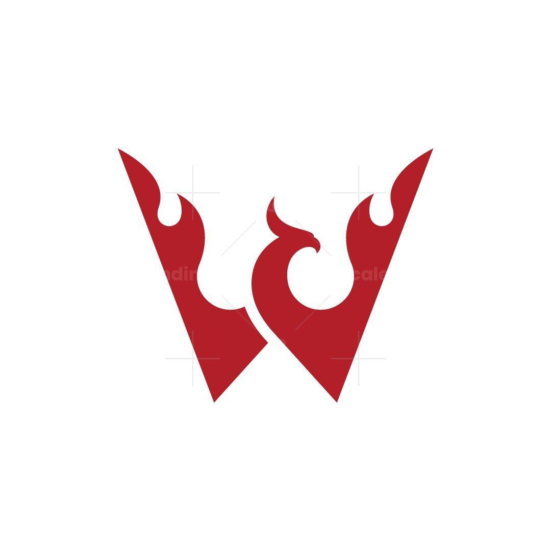 Letter W Phoenix Logo