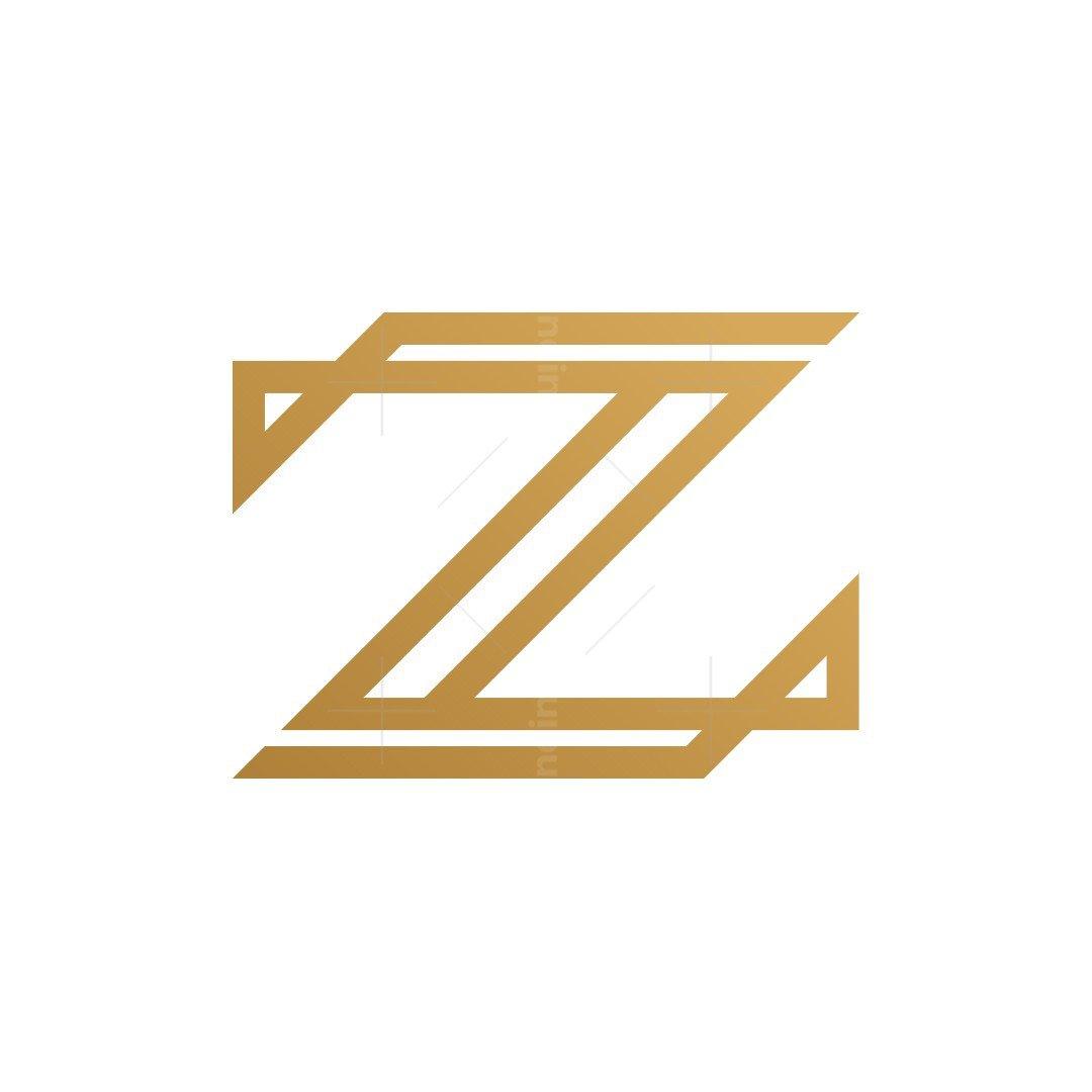 Letter Z Gold Logo