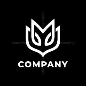 M Letter Mask Logo