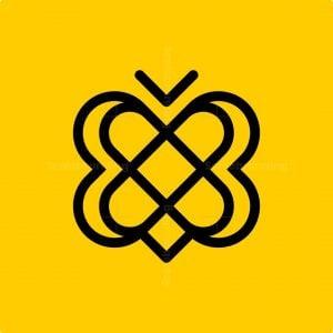 Minimalist Bee Logo