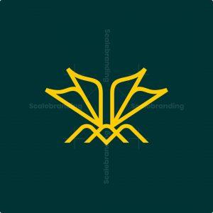 Minimalist Flying Bee Logo